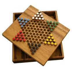 Wood Chinese Checkers Travel Game (Thailand)