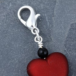 Fashion Forward Silverplated Love Heart Charms (Set of 2)