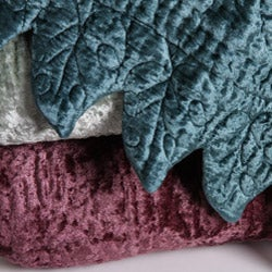 Rayon Velvet French Quilted Throw
