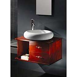 Taichi Vitreous China Oval Bathroom Vessel Sink