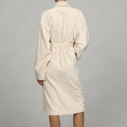 Unisex Ecru Rayon from Bamboo Spa Bath Robe
