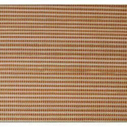 Asian Hand-woven Orange Striped Bamboo Rug (2' x 3')