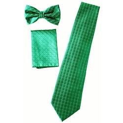 Ferrecci Men's Four-piece Green Vest Set
