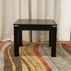 Fairfield Dark Brown Wood Square Modern End Table