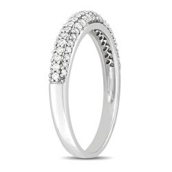 Miadora 10k White Gold 1/2ct TDW Pave Diamond Ring (G-H, I2-I3)