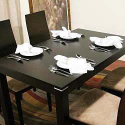 Lambert Dark Brown Wood Modern Dining Table