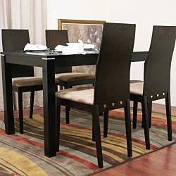 Lambert 5-piece Dark Brown Dining Furniture Set