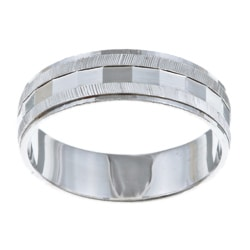 Platifina Platinum over Silver Unisex Wedding Band