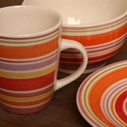 Gibson Rosita Rainbow 16-pc Dinnerware Set