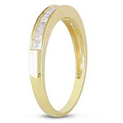 Miadora 14k Yellow Gold 1/2ct TDW Diamond Anniversary Ring