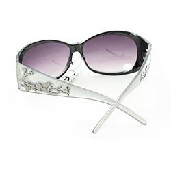 Women's P2089 Silver Round Sunglasses