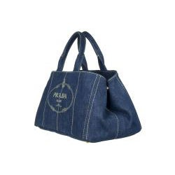 Prada B1872B Blue Denim Tote Bag