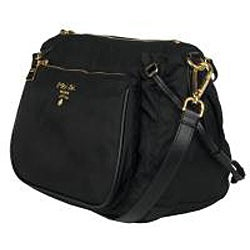 Prada BT0689 Black Nylon Cross-body Bag