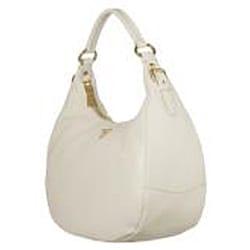 Prada BR4311 Ivory Leather Hobo Bag - 13417687 - Overstock.com ...