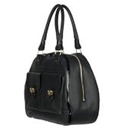 Chloe Black Leather Shopper Bag
