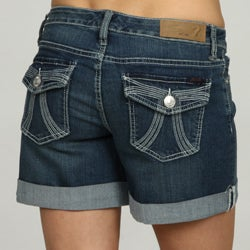 Seven7 Women's Rolled Cuff Denim Shorts