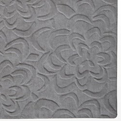 Candice Olson Loomed Grey Floral Plush Wool Rug (8' x 11')