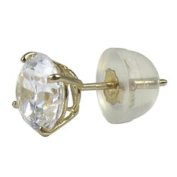 10k Yellow Gold Cubic Zirconia 6-mm Stud Earrings
