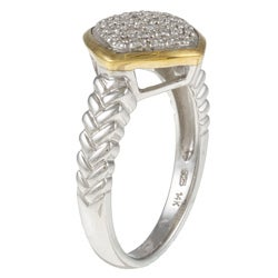 14k Gold and Sterling Silver 1/8ct TDW Diamond Ring (H-I, I1-I2) (Size 7)