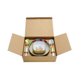 French Bull 'Spirals' 12-piece Boxed Melamine Dinnerware Set