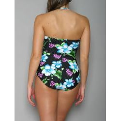 Jantzen Women's Black One-Piece Bandeau Swimsuit