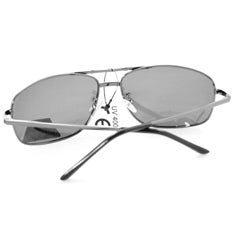 Men's 7837P Black Polarized Wrap Sunglasses