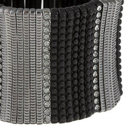Celeste Gunmetal Crystal Stretch Cuff Bracelet