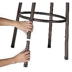 Bronze Finish Half Circle Back Adjustable Metal Swivel Counter Height Bar Stools (Set of 2)