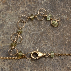 Green Garnet 14k Goldfill<br>Necklace