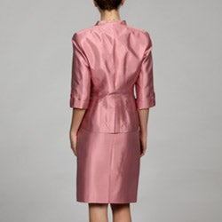 Larry Levine Women's Silk-blend Skirt Suit