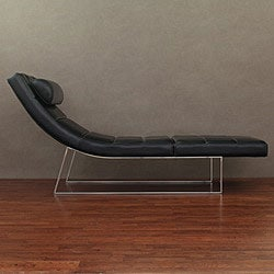 Manhattan Black Leather Daybed