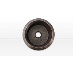 Copper Island 18-inch Dark Round Prep Sink