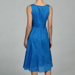 jones new york women's cotton sleeveless banded waist