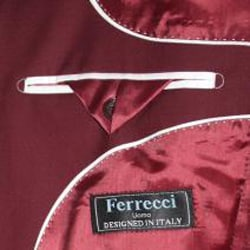 Ferrecci Men's Burgundy 2-button Blazer