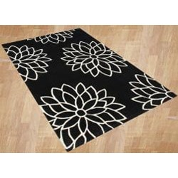 Metro Hand-made Stars Off-white Tufted Area Rug (5' x 8')