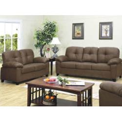 Bento 2-piece Microfiber Sofa and Loveseat Set