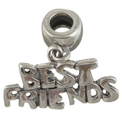 Signature Moments Sterling Silver Best Friends Dangle Charm