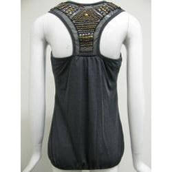 Simply Irresistible Women's Studded Racerback Tunic Tank Top