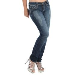 Virtual Sensuality Women's 'Evan' Blue Stretch Push Up Jeans