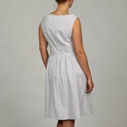Jessica Howard Women's Plus Size Lace Seersucker Dress