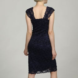 Marina Women's Lace Beaded Sequins Dress