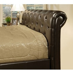 Delano Dark Brown Bi-cast Leather Full-size Bed