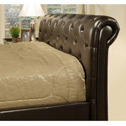 Delano Dark Brown Bi-cast Leather Queen-size Bed
