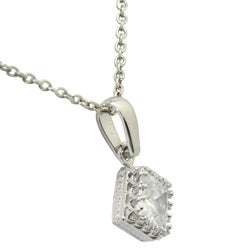 Gioelli Sterling Silver Princess-Cut Cubic Zirconia Necklace