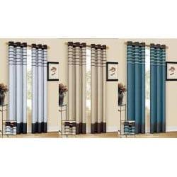 Cityscape Faux Silk 90-inch Curtain Panel