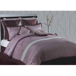 Splendor Purple and Aqua Queen-size 8-piece Comforter Set