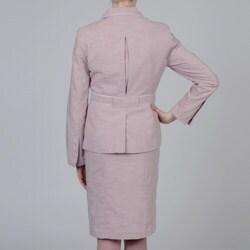 Sharagano Women's Rose Skirt Suit