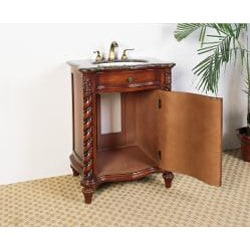 Granite Top 26-inch Single Sink Bathroom Vanity