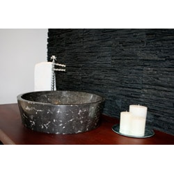 Concrete Full Moon Black and White Sink