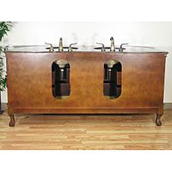 Granite Top 73-inch Double-sink Bathroom Vanity